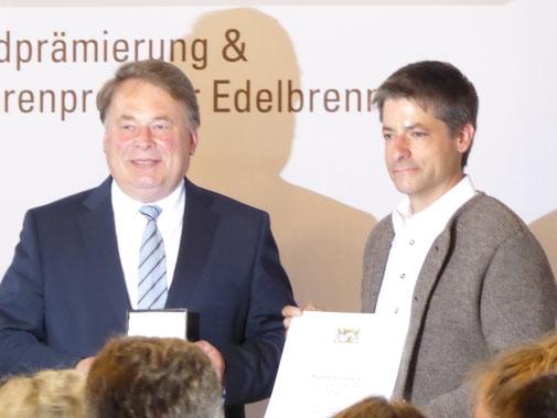 Landwirtschaftsminister Helmut Brunner bei der Preisverleihung.