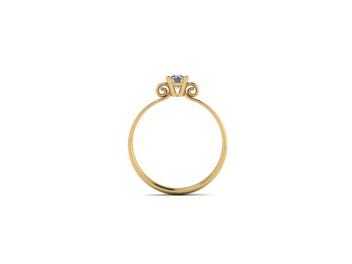 18ct yellow gold Scroll Ring Emma Hedley Jewellery