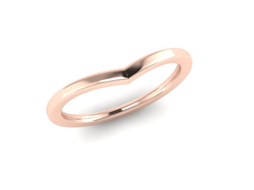 Dusk wishbone wedding ring