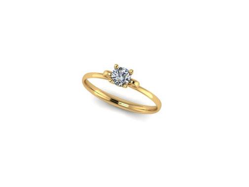 Emma Hedley Jewellery Diamond Scroll Ring Solitair