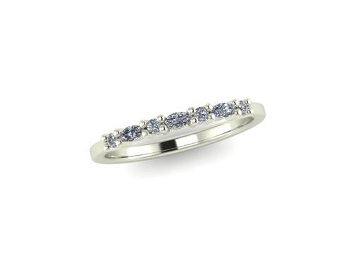 Emma Hedley Jewellery Rose Gold Aquamarine Wedding Eternity Ring