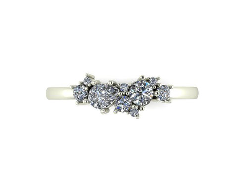 Constellation diamond cluster ring by Emma Hedley Jewellery