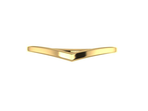 Dawn wishbone wedding ring