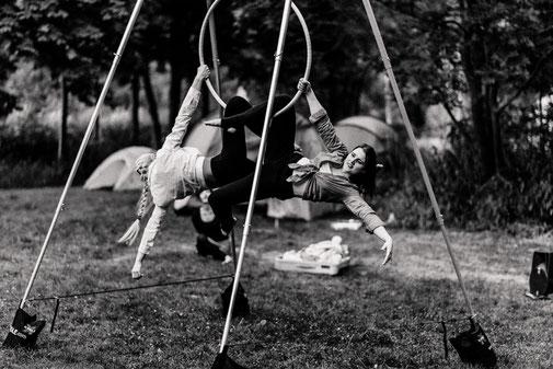 Aerial-Hoop Luftakrobatik Hochzeit Show Zirkus