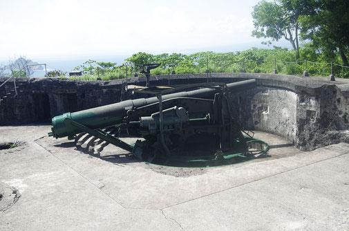 Battery Crockett , das Geschütze waren mit einer Buffington Crozier Verschwindlafette ausgestattet