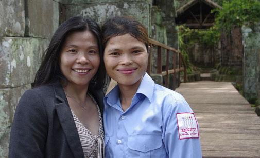 Wir trafen Tibi , die Parkwächterin von Prasat Thom