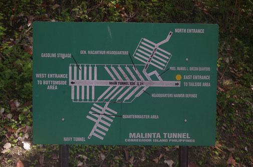 Der Malinta Tunnel diente während der japanischen Belagerung auch als Krankenhaus für ca. 1000 Verwundete
