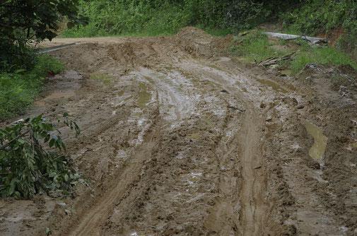 Der Weg nach Burdeos verlangte unseren Fahrern einiges ab. Halbwegs vernünftige Strassen waren kaum vorhanden