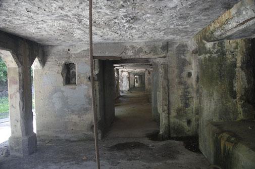 Hier einmal die Bunker der Battery Crockett