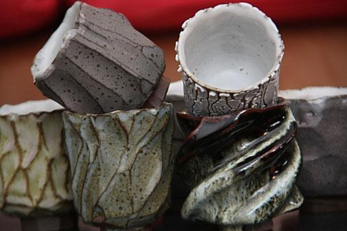 Yunomi, bols à thé émaillés