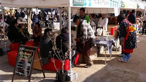 静岡県川根の有機栽培茶 樽脇園 無農薬 無化学肥料 オーガニック 太陽のマルシェイベント会場
