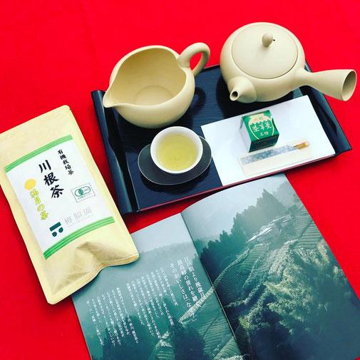 静岡県川根の有機栽培茶 樽脇園 浅蒸し 無農薬 無農薬茶 無化学肥料 オーガニック オーガニック茶 緑茶 煎茶 山のお茶 満月の茶 市民活動フェス2018 茶羊羹