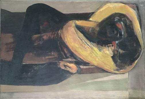 Umarmung 90 x 120 Öl Lw. 1997