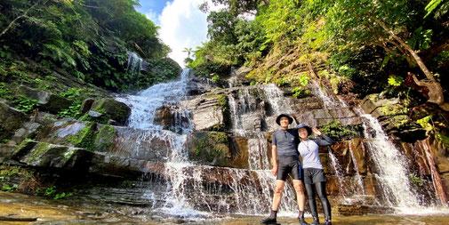 西表島の早朝カヤック【サンライズ&半日】滝遊び