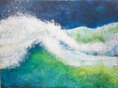 Grüne Welle | Acryl | 90x120 cm