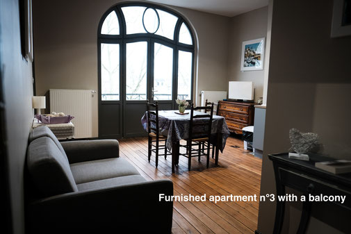 Furnished apartment in Amiens with balcony in the Somme, in the city center. Located close to the cathedral, serviced apartments for business trip corporate or family. Aparthotel with services.