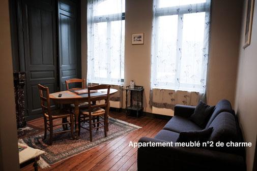 The nest - Appartement meublé tout confort en centre ville d'Amiens avec services hoteliers avec vue sur le jardin, plancher d'origine, charme, double vitrage calme, venez vous reposer, tout équipé