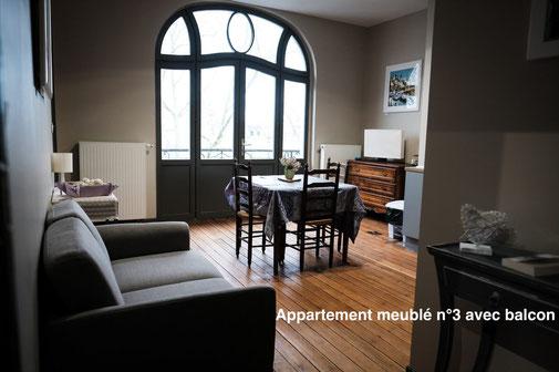 The nest - Appartement meublé avec balcon en centre-ville d'Amiens avec services hoteliers pour vous sentir comme chez soi, proche gare, cathédrale, coliseum