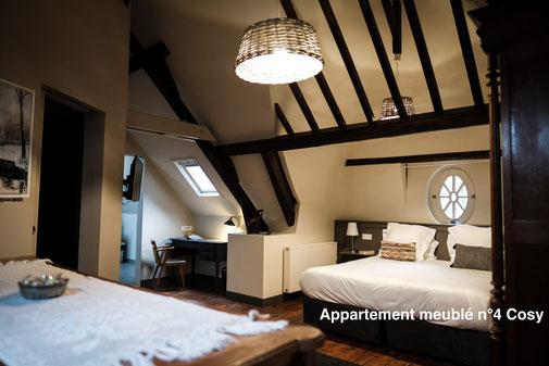The nest - Appartement meublé climatisé avec vue sur le boulevard du centre-ville d'Amiens, cosy et charme de cet appart'hotel, location à la semaine ou au mois, avec charme et calme, d'origine