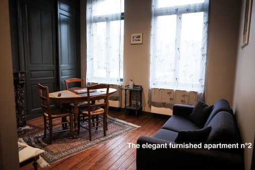 Furnished apartment with view on the garden in the Somme (Amiens), serviced apartments close to the cathedral, in the city center, business trip for corporate long time