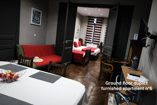 The nest - furnished apartment ground floor duplex, with hotel services, with entrance on the garden, in the Somme. Serviced apartments.