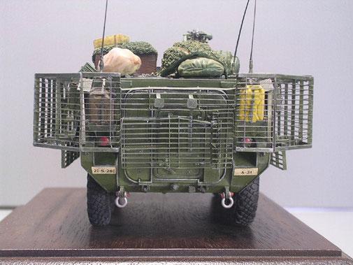 Auch die Heckklappe besaß die Slat-Armour-Ausstattung