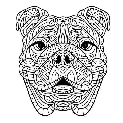 colorear mandalas adultos perro