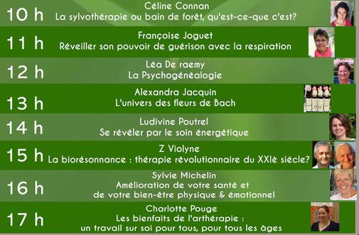 programme de conferences salon bien-être Amboizen  - Amboise