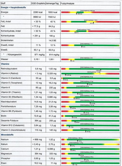 Ernährungsprotokoll, Anna Rottmann, Heilpraktikerin, Ernährungsberatung