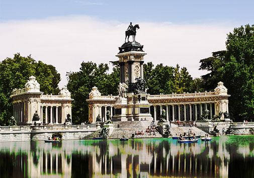 Poster Parque del Retiro Madrid