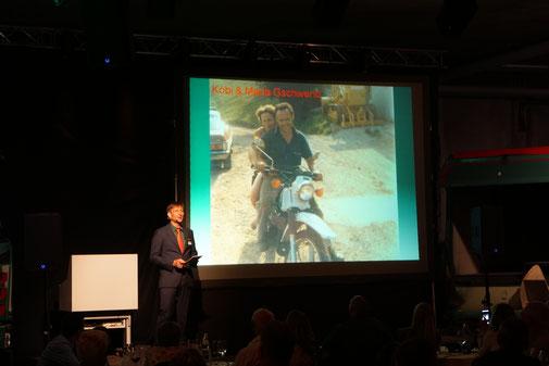 Norbert Gschwend bei seiner Rede an der Jubiläumsfeier