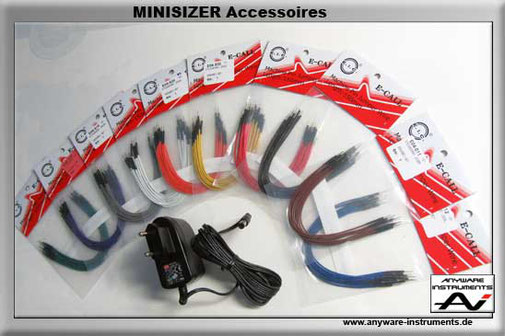 MINISIZER- Accessoires, Patch cable+Meanwell Power