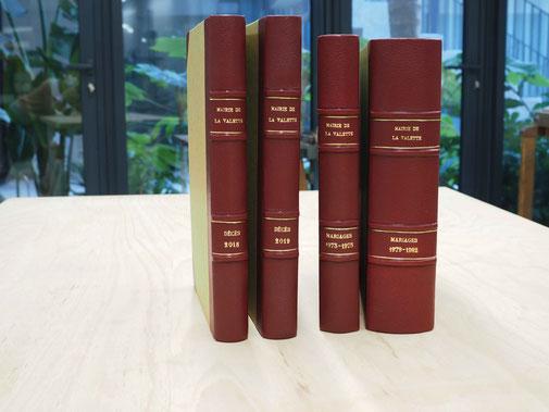 reliure registre escudié anne gael