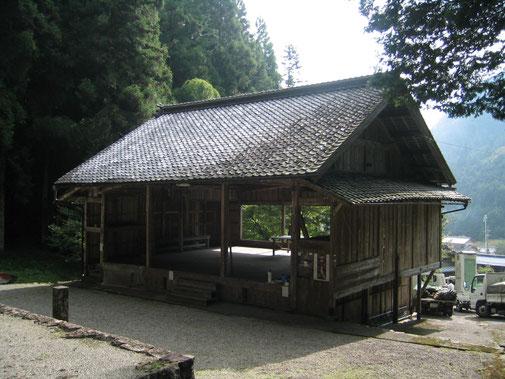 神社拝殿 屋根葺き替え 施工前