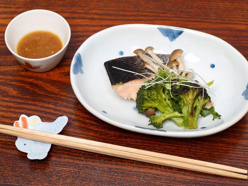 焼き魚とドレッシング