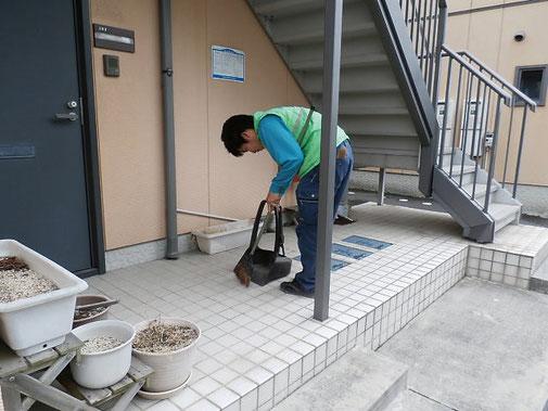 通路の清掃