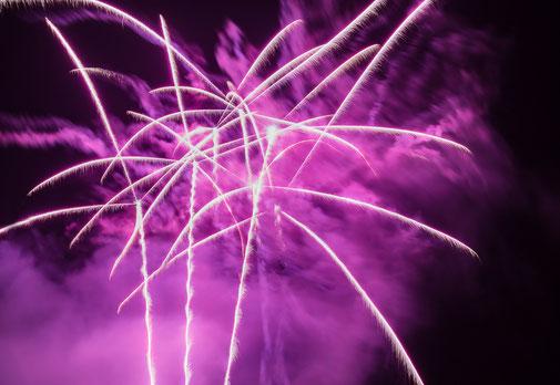 Feuerwerk zur Hochzeit auf Schloss Weitenburg
