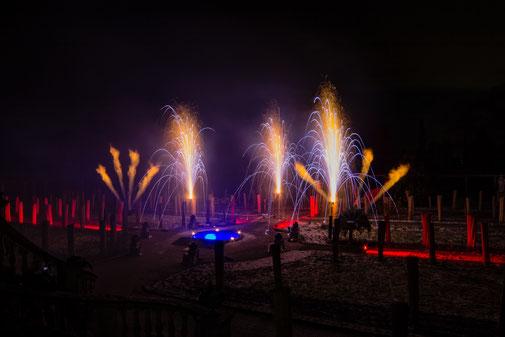 Feuershow zur Hochzeit auf der Insel Mainau