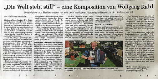 Artikel aus dem GT - 25.07.2020 - Autor: j.broemsen_frMA@goettinger-tageblatt.de