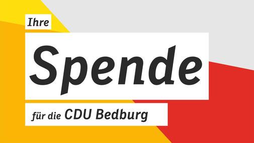 Spende für die CDU Bedburg