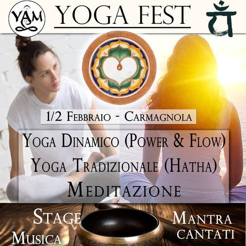 Yoga Festival Stage Mantra cantati Musica Meditazione Buffet Torino Carmagnola
