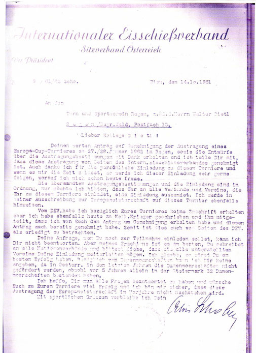 Genehmigung des 1. EC 1962 in Regen
