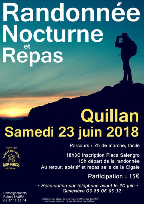 Randonnée nocturne Quillan