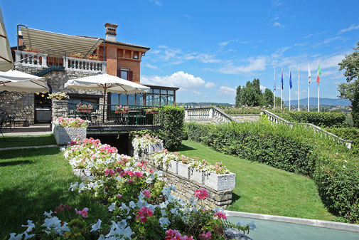 Reizende Pension auf dem Italian Open Platz.