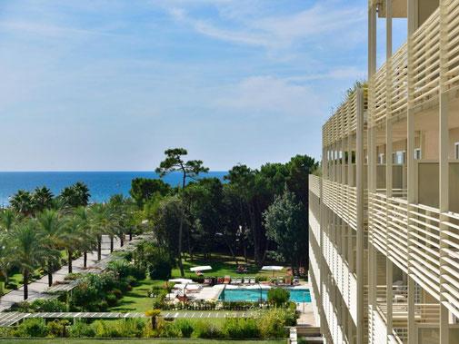 UNA Hotel Versilia Apuanische  Alpen Marmor Carrara edel Golfplatz Pinien Urlaub Golfurlaub Golfferien Golf Italien Toskana Gourmet Design cool modern