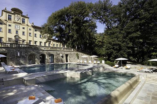 Golfreise Italien Golfpaket Golf Ferien Reisen Golfhotel Design Modern Style Kunst Luxus Florenz Villa Wellness Spa