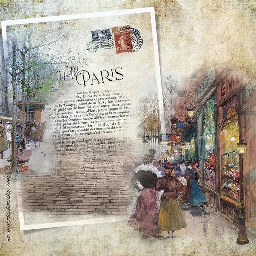 Postales vintage Paris