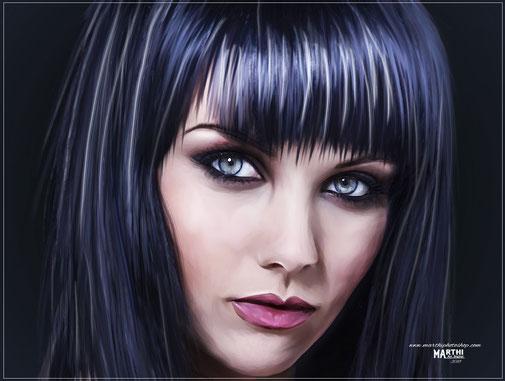 Pintando sobre retrato