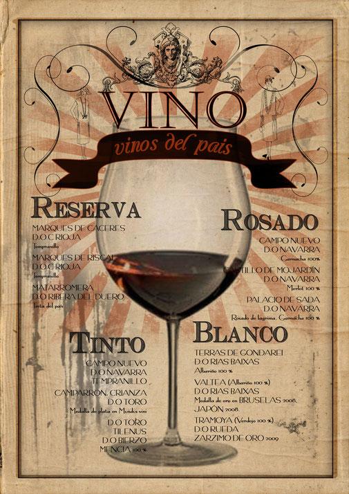 Cartel de vino Vintage