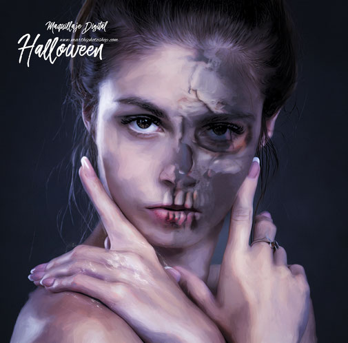 Maquillaje digital Halloween